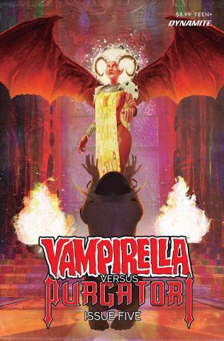 Vampirella vs. Purgatori #5 (Premium Maine Cover)