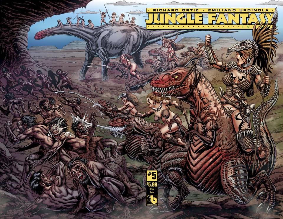 Jungle Fantasy: Ivory #5 (Wrap Cover)