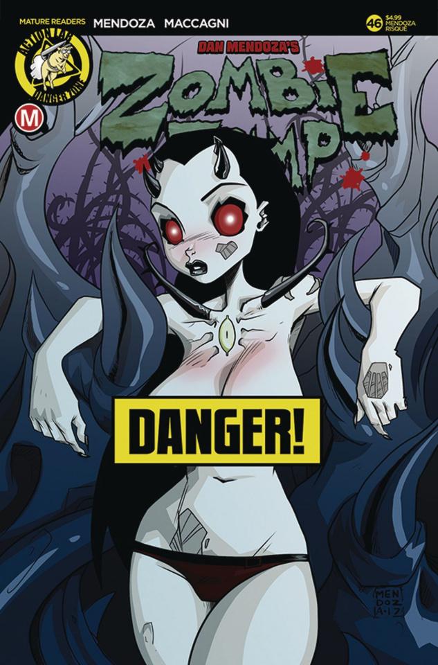 Zombie Tramp #46 (Mendoza Risque Cover)