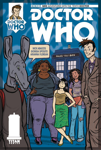 Doctor Who: New Adventures with the Tenth Doctor, Year Three #14 (Abadzis Cover)