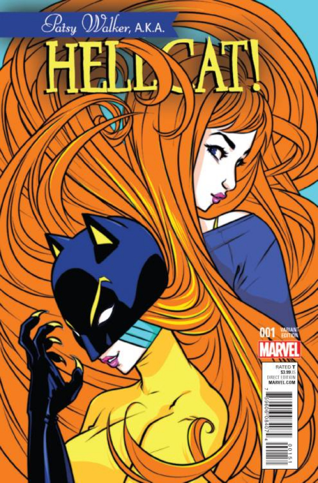 Patsy Walker, a.k.a. Hellcat #1 (Campbell Cover)