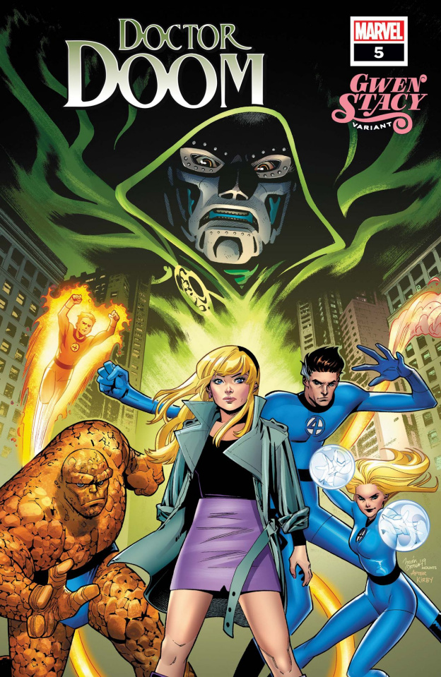 Doctor Doom #5 (Ortega Gwen Stacy Cover)