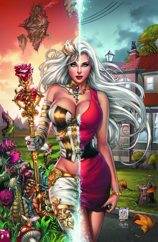 Grimm Fairy Tales: Wonderland #12 (Krome Red Dress Cover)