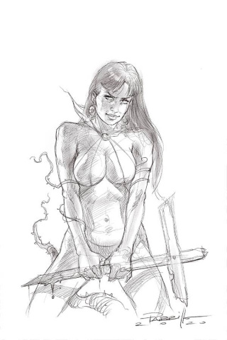 Vengeance of Vampirella #9 (25 Copy Parrillo B&W Virgin Cover)
