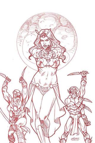 Dejah Thoris #2 (Linsner Rare Martian Red Cover)