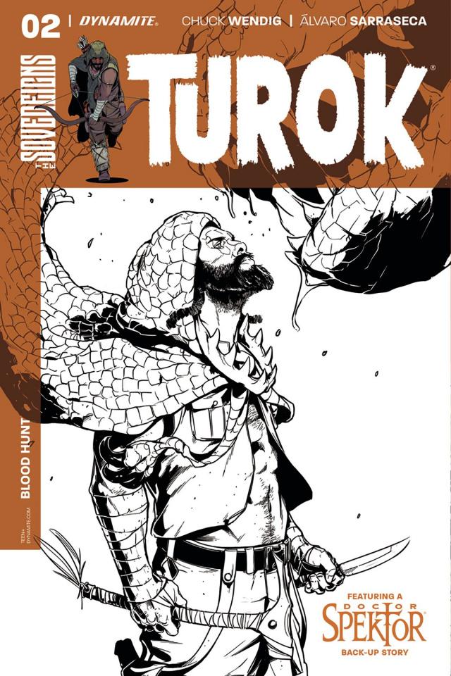 Turok #2 (10 Copy Sarraseca B&W Cover)