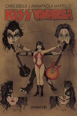 KISS / Vampirella #4 (Ihde Cover)
