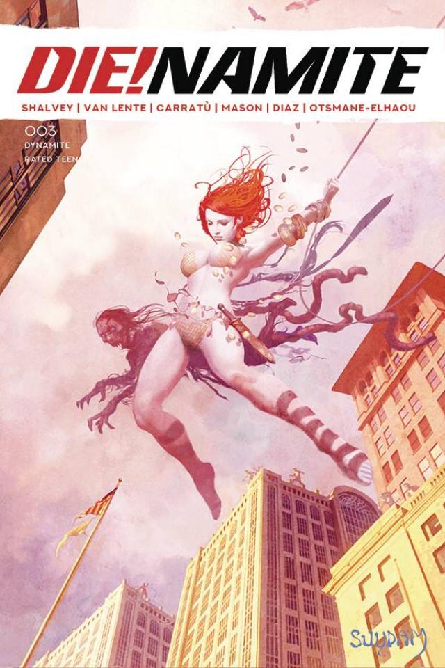 DIE!namite #3 (Suydam Homage Spiderman Non-Zombie Cover)
