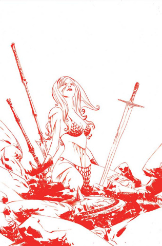 Red Sonja #24 (35 Copy Lee Tint Virgin Cover)