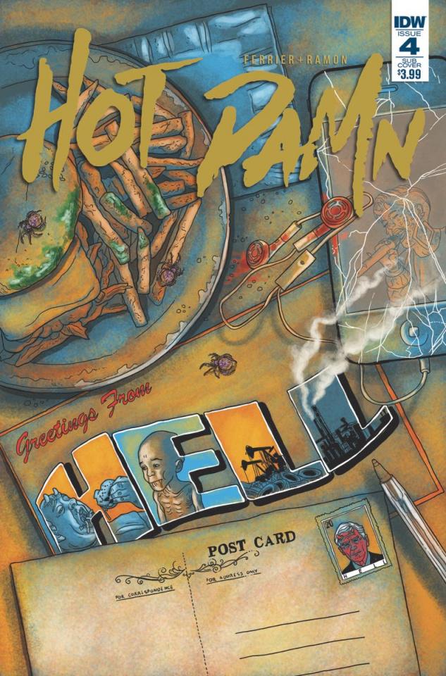 Hot Damn #4 (Subscription Cover)