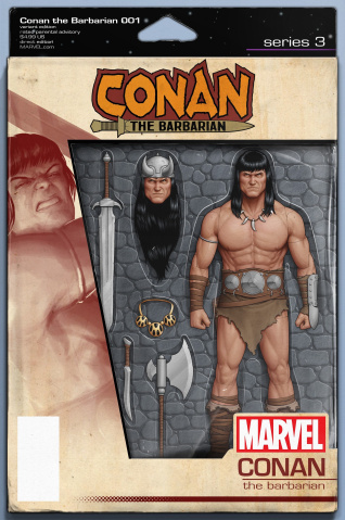Conan the Barbarian #1 (Christopher Action Figure Cover)