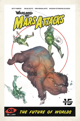 Warlord of Mars Attacks #5 (Caldwell Cover)