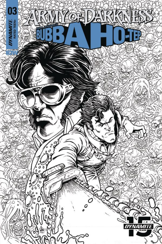 Army of Darkness / Bubba Ho-Tep #3 (15 Copy Haeser B&W Cover)