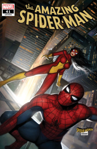 The Amazing Spider-Man #41 (Brown Spider-Woman Cover)