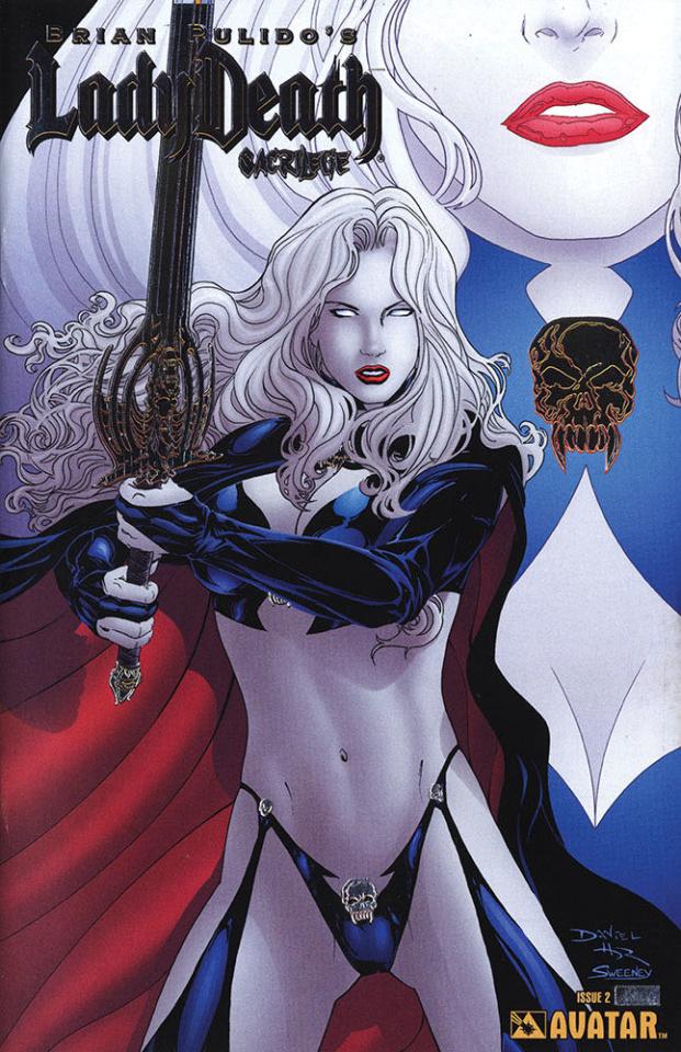 Lady Death: Sacrilege #2 (Platinum Foil Cover)