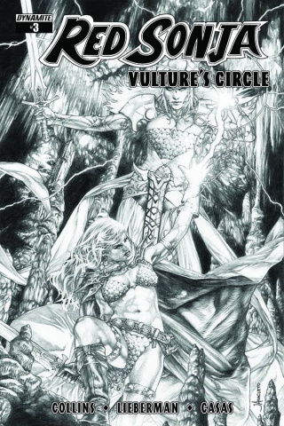 Red Sonja: Vulture's Circle #3 (10 Copy Anacleto B&W Cover)