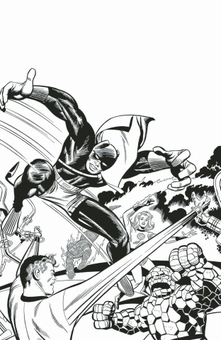 Black Panther #1 (Kirby B&W Remastered Cover)