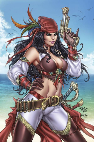 Grimm Fairy Tales: Realm Knights Annual #1 (Pantalena Cover)