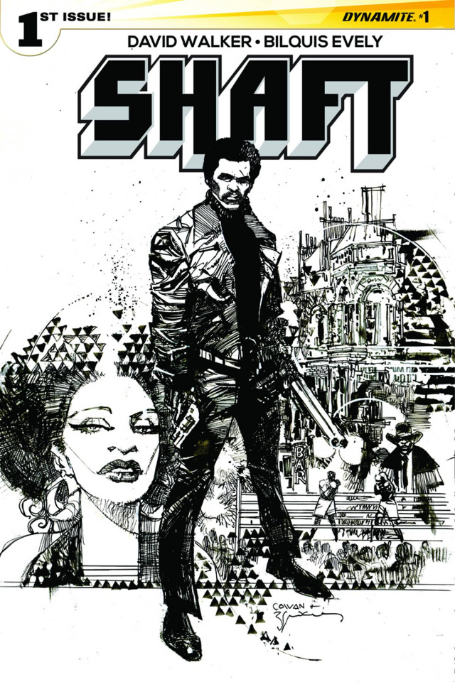 Shaft #1 (10 Copy Sienkiewicz B&W Cover)