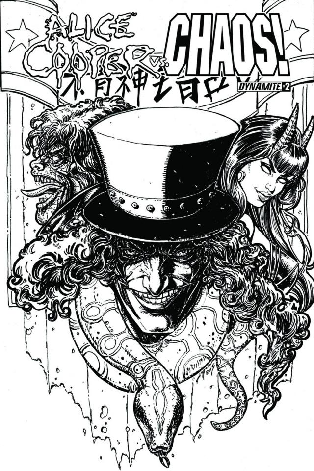 Alice Cooper vs. Chaos! #2 (15 Copy Chin B&W Cover)