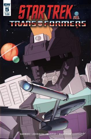Star Trek vs. The Transformers #5 (Burcham Cover)