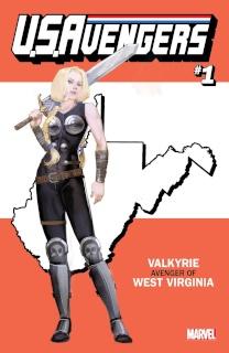 U.S.Avengers #1 (Reis West Virginia State Cover)
