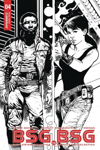 BSG vs. BSG #4 (10 Copy Castro B&W Cover)