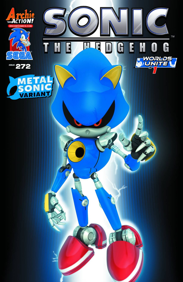 Sonic the Hedgehog #272 (Metal Sonic Game Art Sega Cover)