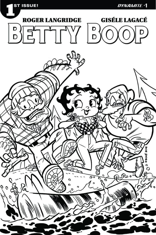 Betty Boop #1 (Bone Coloring Book Cover)