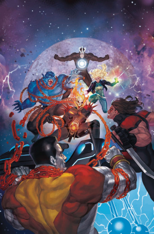 Astonishing X-Men #15 (Akcho Cosmic Ghost Rider Cover)