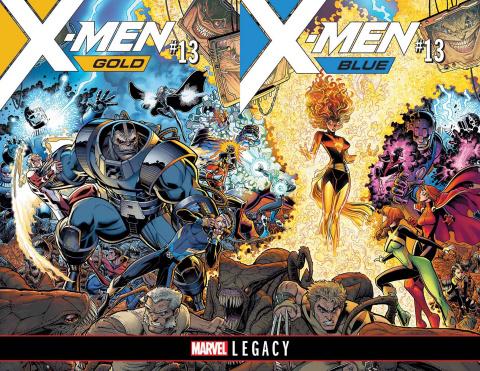 X-Men: Blue #13 (Adams B&W Connecting Cover)
