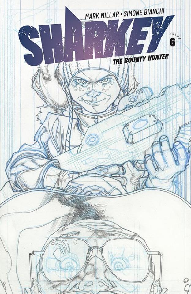 Sharkey, The Bounty Hunter #6 (Sketch Bianchi Cover)