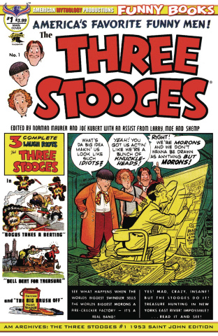 American Mythology Archives: The Three Stooges #1 (1953 Saint John Cover)