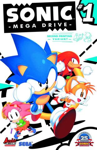 Sonic Mega Drive (2nd Printing)