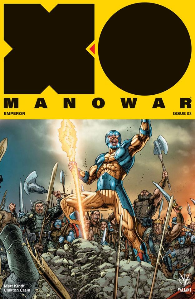 X-O Manowar #8 (20 Copy Interlock Ryp Cover)