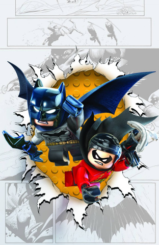 Batman and Robin #36 (Lego Cover)