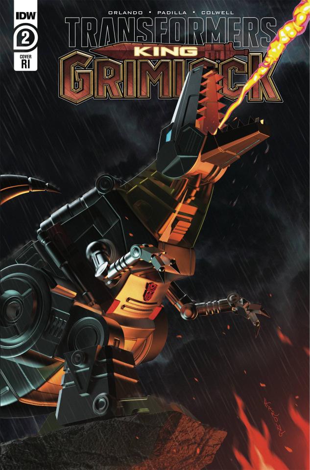 Transformers: King Grimlock #2 (10 Copy Harding Cover)