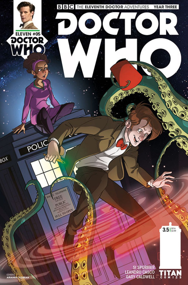 Doctor Who: New Adventures with the Eleventh Doctor, Year Three #5 (Florean Cover)