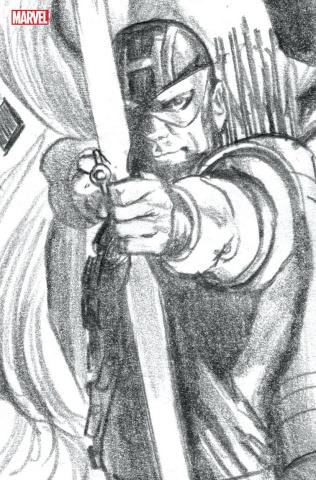 Avengers #42 (Alex Ross Hawkeye Timeless Sketch Virgin Cover)