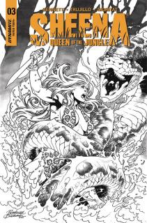 Sheena #3 (20 Copy Buchemi B&W Cover)
