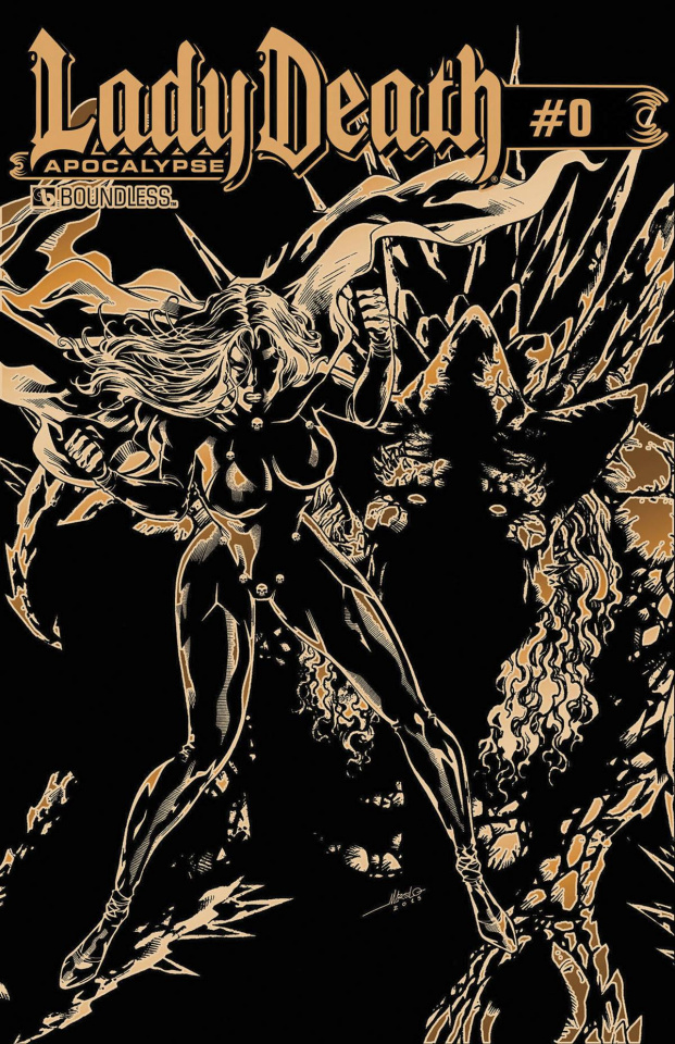 Lady Death: Apocalypse #0 (Kickstarter Gold Leather Cover)