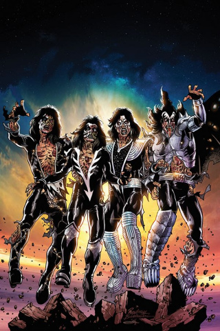 KISS: Zombies #1 (20 Copy Buchemi Virgin Cover)