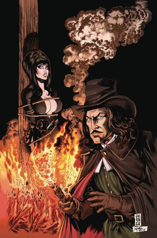 Elvira Meets Vincent Price #3 (Acosta Virgin Cover)