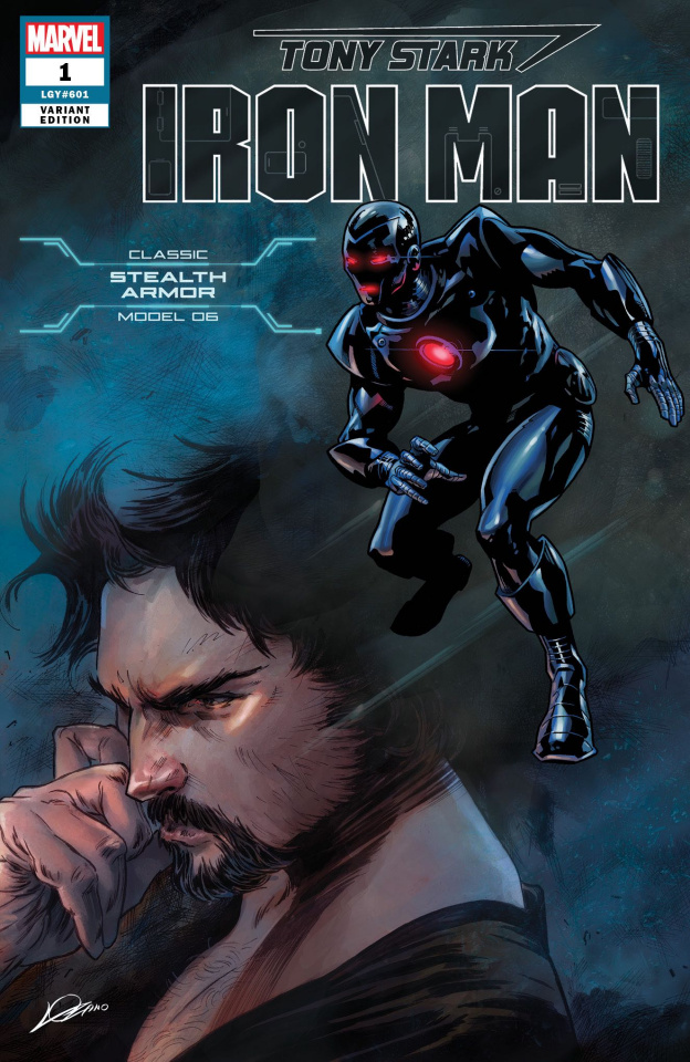 Tony Stark: Iron Man #1 (Stealth Armor Cover)