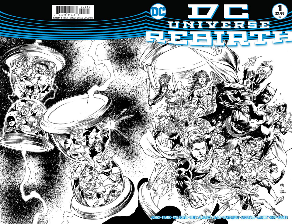 DC Universe: Rebirth #1 (Limited Variant Cover)