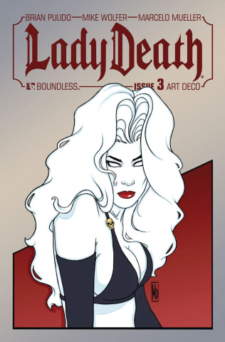 Lady Death #3 (Art Deco Variant Cover)