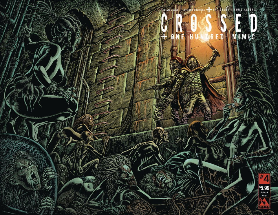 Crossed + One Hundred: Mimic #4 (History X Wrap Cover)