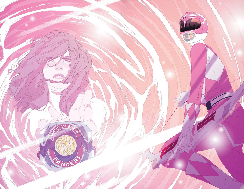 Mighty Morphin' Power Rangers: Pink #1 (Unlock Morphing Cover)