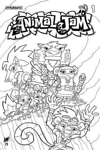 Animal Jam #1 (Coloring Book Cover)