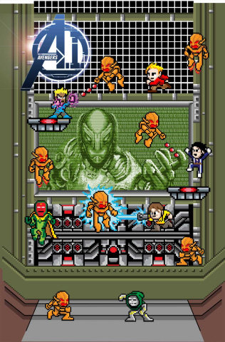 Avengers AI #1 (8-Bit Cover)